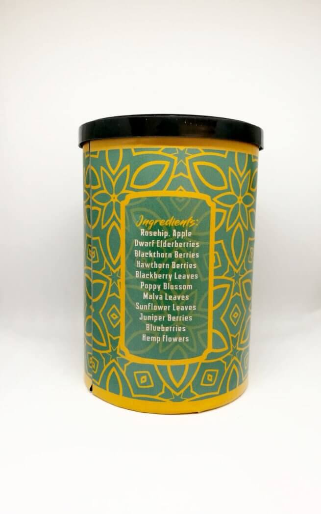 FOCUS CBD Herb Tea Blend - Canna Health Amsterdam - Back